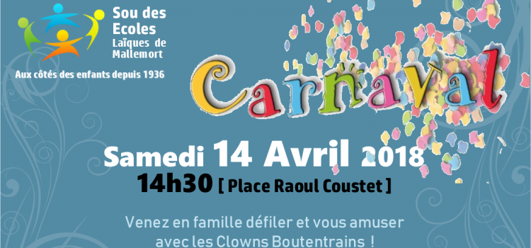 Carnaval de printemps – Samedi 14 Avril 2018