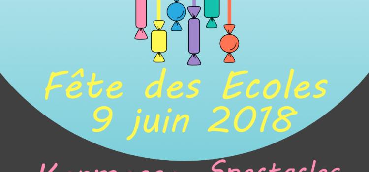 Fête des Écoles – samedi 9 juin 2018